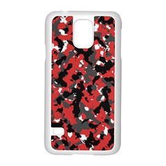 Spot Camuflase Red Black Samsung Galaxy S5 Case (white)