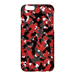 Spot Camuflase Red Black Apple Iphone 6 Plus/6s Plus Hardshell Case by Alisyart