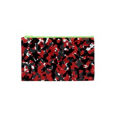 Spot Camuflase Red Black Cosmetic Bag (xs)
