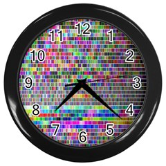 Plasma Gradient Phalanx Wall Clocks (black) by Simbadda