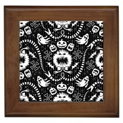 Wrapping Paper Nightmare Monster Sinister Helloween Ghost Framed Tiles