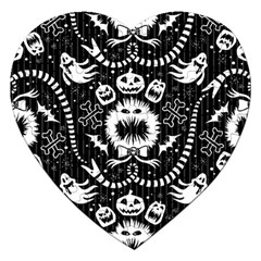 Wrapping Paper Nightmare Monster Sinister Helloween Ghost Jigsaw Puzzle (heart) by Alisyart