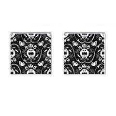 Wrapping Paper Nightmare Monster Sinister Helloween Ghost Cufflinks (square) by Alisyart