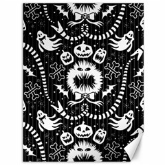 Wrapping Paper Nightmare Monster Sinister Helloween Ghost Canvas 36  X 48   by Alisyart