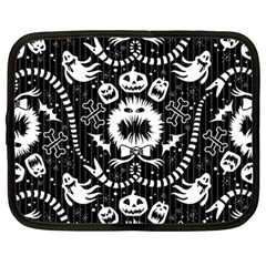 Wrapping Paper Nightmare Monster Sinister Helloween Ghost Netbook Case (large) by Alisyart