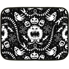 Wrapping Paper Nightmare Monster Sinister Helloween Ghost Fleece Blanket (mini) by Alisyart