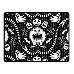 Wrapping Paper Nightmare Monster Sinister Helloween Ghost Fleece Blanket (small)
