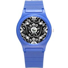 Wrapping Paper Nightmare Monster Sinister Helloween Ghost Round Plastic Sport Watch (s) by Alisyart