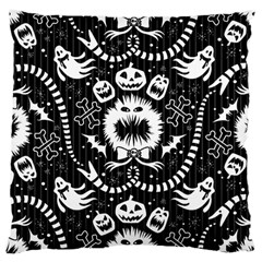 Wrapping Paper Nightmare Monster Sinister Helloween Ghost Large Cushion Case (two Sides)