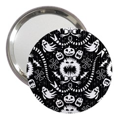 Wrapping Paper Nightmare Monster Sinister Helloween Ghost 3  Handbag Mirrors