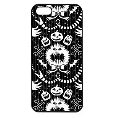 Wrapping Paper Nightmare Monster Sinister Helloween Ghost Apple Iphone 5 Seamless Case (black)