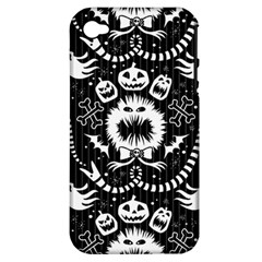 Wrapping Paper Nightmare Monster Sinister Helloween Ghost Apple Iphone 4/4s Hardshell Case (pc+silicone) by Alisyart