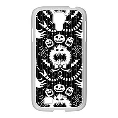 Wrapping Paper Nightmare Monster Sinister Helloween Ghost Samsung Galaxy S4 I9500/ I9505 Case (white) by Alisyart
