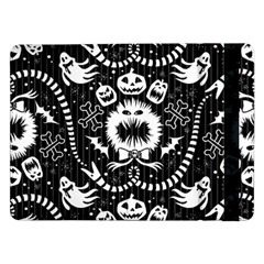 Wrapping Paper Nightmare Monster Sinister Helloween Ghost Samsung Galaxy Tab Pro 12 2  Flip Case
