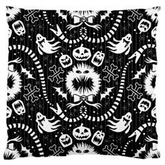 Wrapping Paper Nightmare Monster Sinister Helloween Ghost Large Flano Cushion Case (one Side)