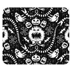 Wrapping Paper Nightmare Monster Sinister Helloween Ghost Double Sided Flano Blanket (small)  by Alisyart