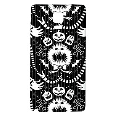 Wrapping Paper Nightmare Monster Sinister Helloween Ghost Galaxy Note 4 Back Case by Alisyart