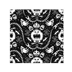 Wrapping Paper Nightmare Monster Sinister Helloween Ghost Small Satin Scarf (square)