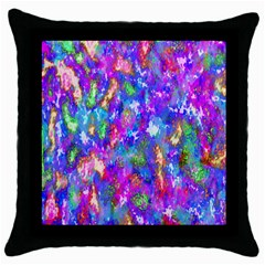 Abstract Trippy Bright Sky Space Throw Pillow Case (black)