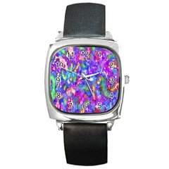 Abstract Trippy Bright Sky Space Square Metal Watch by Simbadda