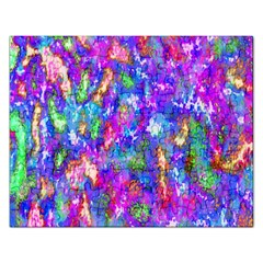 Abstract Trippy Bright Sky Space Rectangular Jigsaw Puzzl by Simbadda