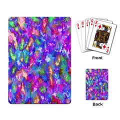Abstract Trippy Bright Sky Space Playing Card by Simbadda
