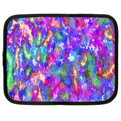 Abstract Trippy Bright Sky Space Netbook Case (xxl)  by Simbadda