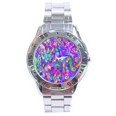 Abstract Trippy Bright Sky Space Stainless Steel Analogue Watch