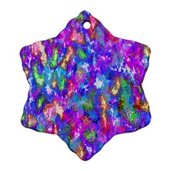 Abstract Trippy Bright Sky Space Ornament (snowflake)