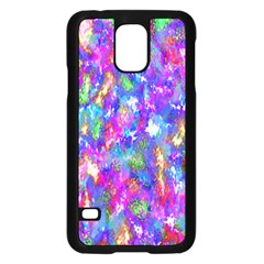 Abstract Trippy Bright Sky Space Samsung Galaxy S5 Case (black)
