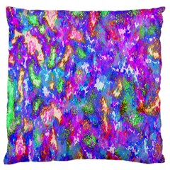 Abstract Trippy Bright Sky Space Large Flano Cushion Case (one Side) by Simbadda