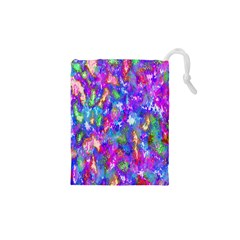 Abstract Trippy Bright Sky Space Drawstring Pouches (xs)