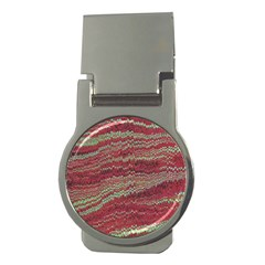 Scaly Pattern Colour Green Pink Money Clips (round)