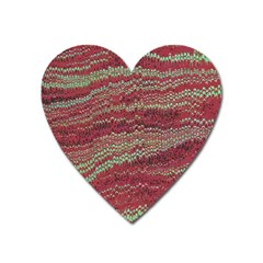 Scaly Pattern Colour Green Pink Heart Magnet by Alisyart