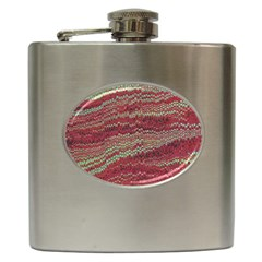 Scaly Pattern Colour Green Pink Hip Flask (6 Oz) by Alisyart