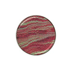 Scaly Pattern Colour Green Pink Hat Clip Ball Marker (4 Pack)