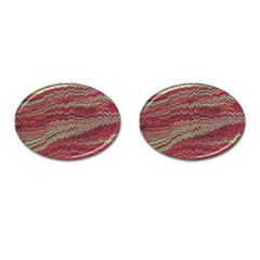 Scaly Pattern Colour Green Pink Cufflinks (oval)