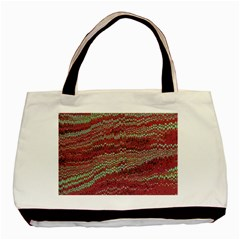 Scaly Pattern Colour Green Pink Basic Tote Bag by Alisyart