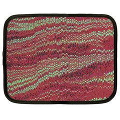 Scaly Pattern Colour Green Pink Netbook Case (large) by Alisyart