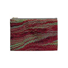 Scaly Pattern Colour Green Pink Cosmetic Bag (medium)  by Alisyart