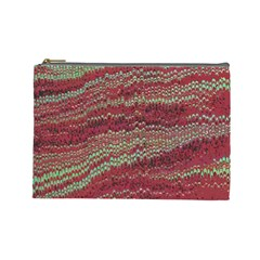 Scaly Pattern Colour Green Pink Cosmetic Bag (large)  by Alisyart