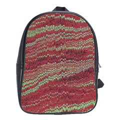 Scaly Pattern Colour Green Pink School Bags(large)  by Alisyart