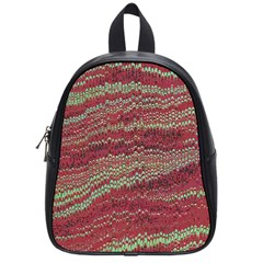 Scaly Pattern Colour Green Pink School Bags (small)  by Alisyart