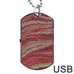 Scaly Pattern Colour Green Pink Dog Tag Usb Flash (one Side) by Alisyart