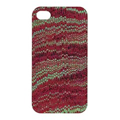 Scaly Pattern Colour Green Pink Apple Iphone 4/4s Hardshell Case