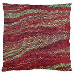 Scaly Pattern Colour Green Pink Large Cushion Case (two Sides)