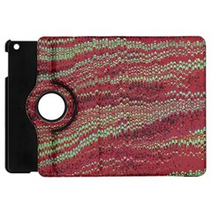 Scaly Pattern Colour Green Pink Apple Ipad Mini Flip 360 Case by Alisyart