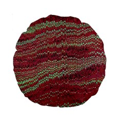 Scaly Pattern Colour Green Pink Standard 15  Premium Round Cushions