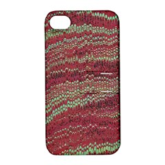 Scaly Pattern Colour Green Pink Apple Iphone 4/4s Hardshell Case With Stand by Alisyart