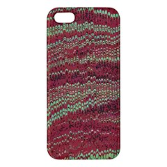 Scaly Pattern Colour Green Pink Apple Iphone 5 Premium Hardshell Case by Alisyart